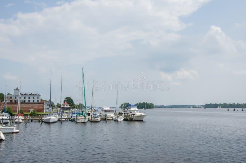 Waterfront scenes in washington north carolina royalty free stock photography