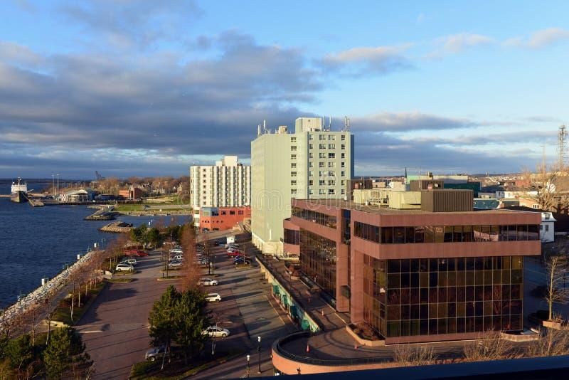 Waterfront of Sydney, Nova Scotia stock image