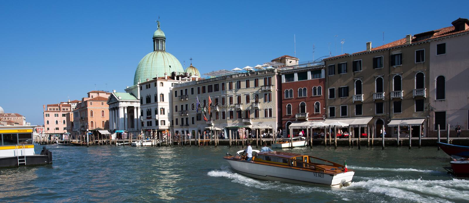 Waterfront Venice royalty free stock photography