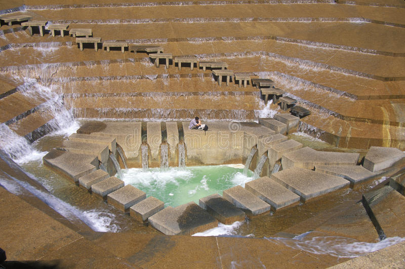 Watergarden-Brunnen in Ft Wert, TX lizenzfreies stockfoto
