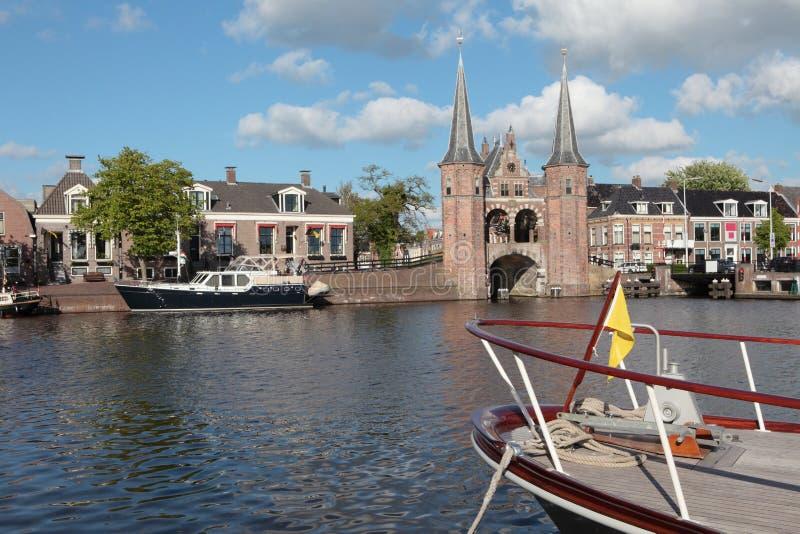 Watergate en Sneek, los Países Bajos fotos de archivo