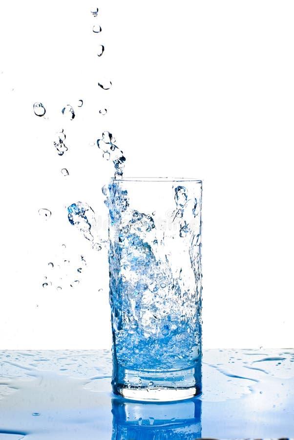 Waterglas foto de archivo