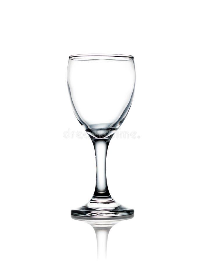 Waterglas op witte achtergrond met het knippen van weg royalty-vrije stock foto
