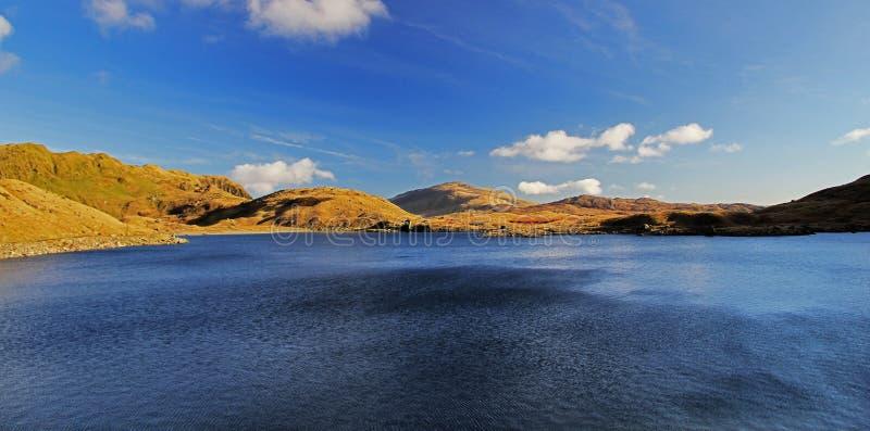 Waterhouse and Carnedd y Cribau across Llyn Llydaw stock image
