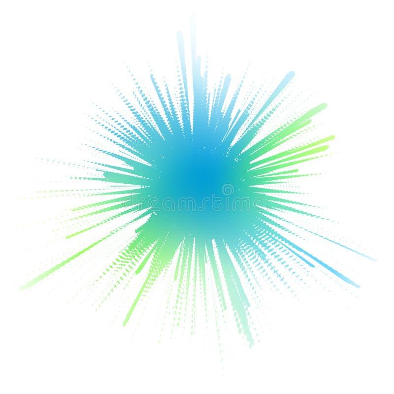 Waterige inktplons stock illustratie