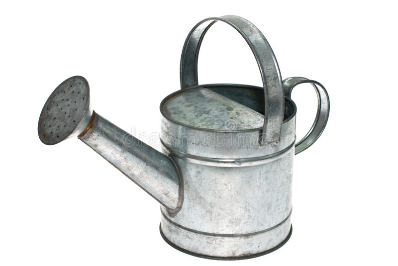 Watering can. Watering can isolated on white background royalty free stock image