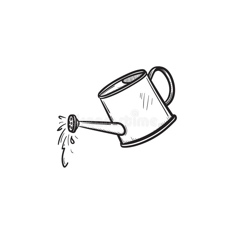 Free Watering Can Hand Drawn Sketch Icon. Royalty Free Stock Photos - 107210148