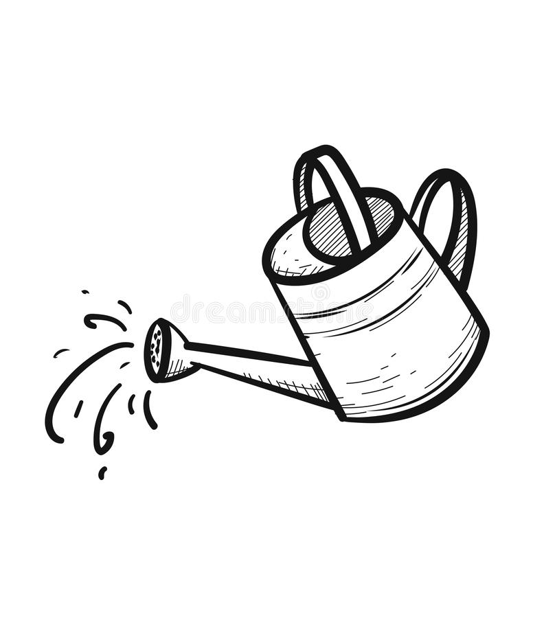 Free Watering Can Hand Drawn Sketch Icon. Stock Photo - 110240620