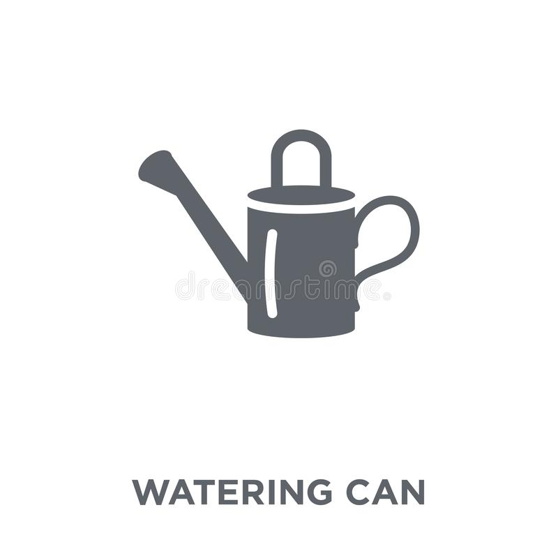 Watering can icon from Agriculture, Farming and Gardening collection. royalty free illustration