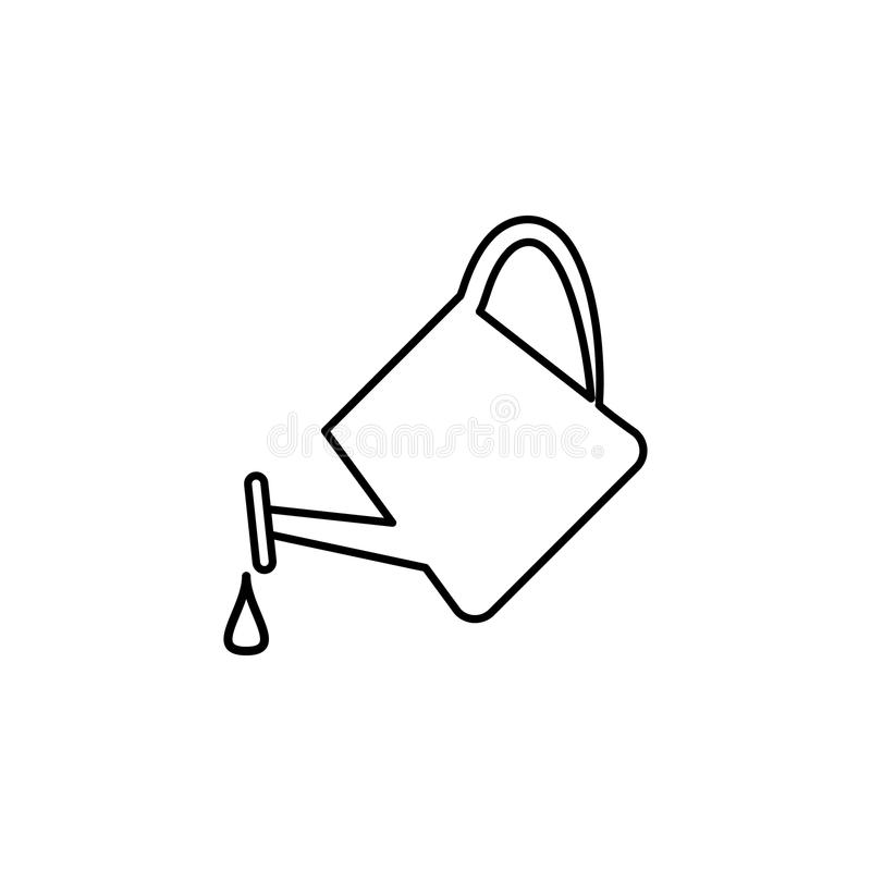 watering can icon. Element of simple icon for websites, web design, mobile app, info graphics. Thin line icon for website design a stock illustration
