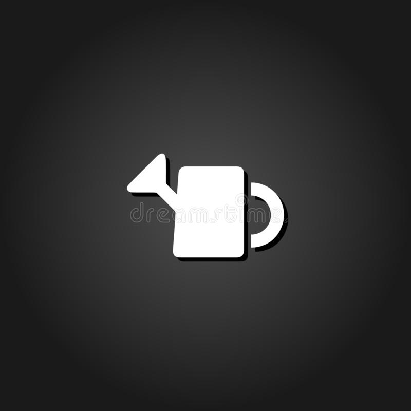 Watering can icon flat royalty free illustration