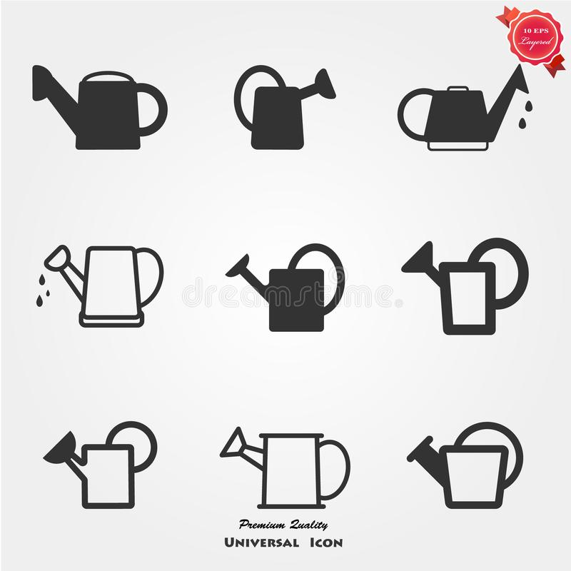 Watering can icons stock illustration
