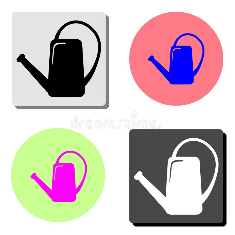 Watering can irrigation. flat vector icon stock illustration