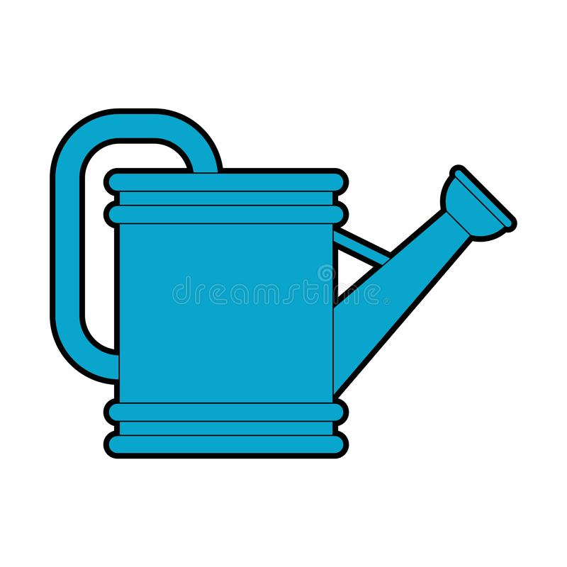 Watering can isolated. watering pot Vector illustration royalty free illustration