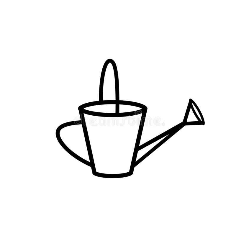 Watering can outline icon vector illustration