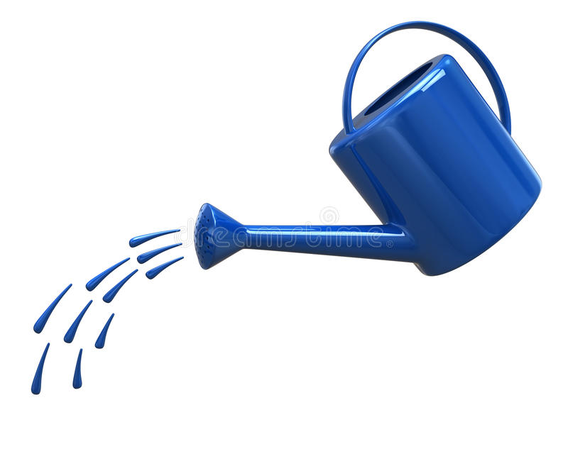 Watering can pouring water stock illustration