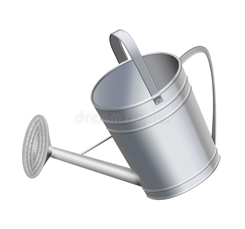 Watering-can for water royalty free illustration