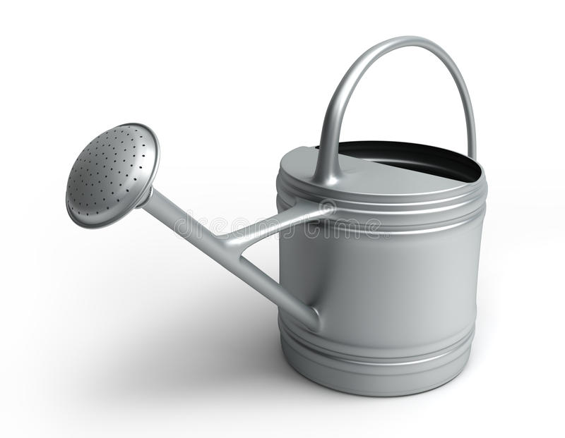 Watering Can On White Royalty Free Stock Photo