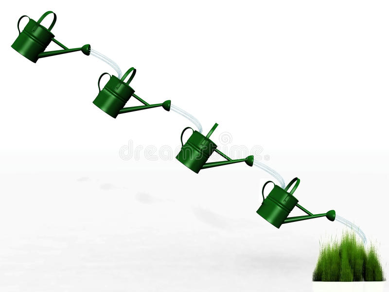 Download Watering cans stock illustration. Illustration of droplet - 21859682