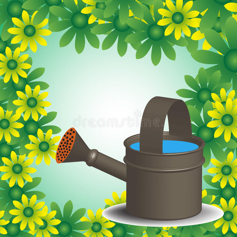 Download Watering flowers stock illustration. Image of botany - 38529143