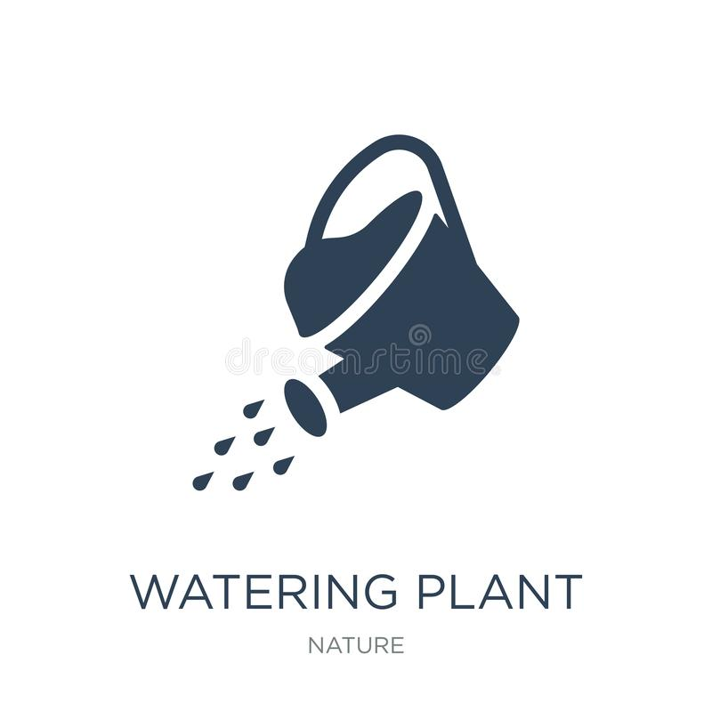 Watering plant icon in trendy design style. watering plant icon isolated on white background. watering plant vector icon simple. And modern flat symbol for web royalty free illustration