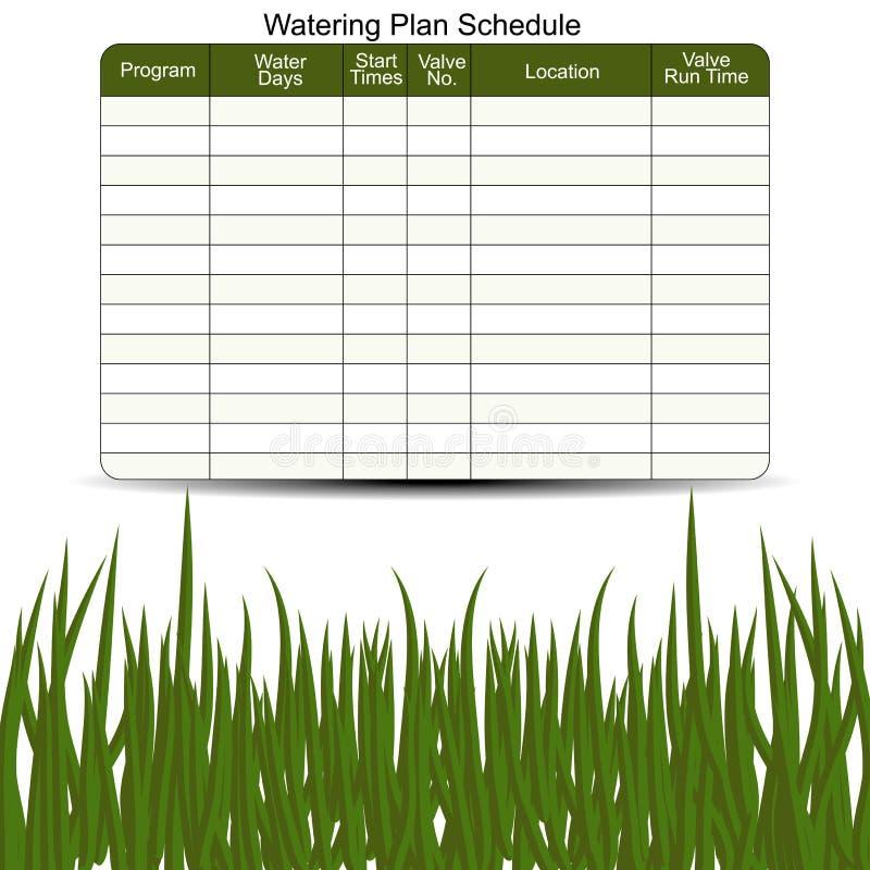 Watering Schedule Chart