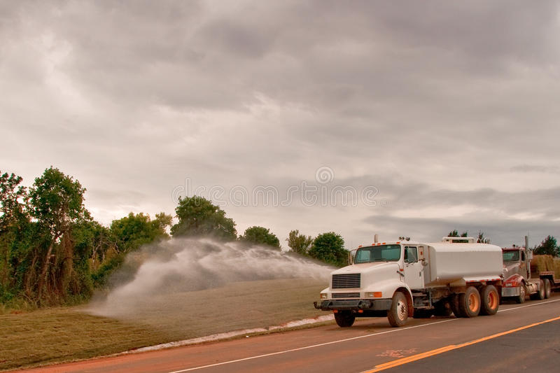 Download Watering Sod stock photo. Image of soil, clouds, equipment - 11280024