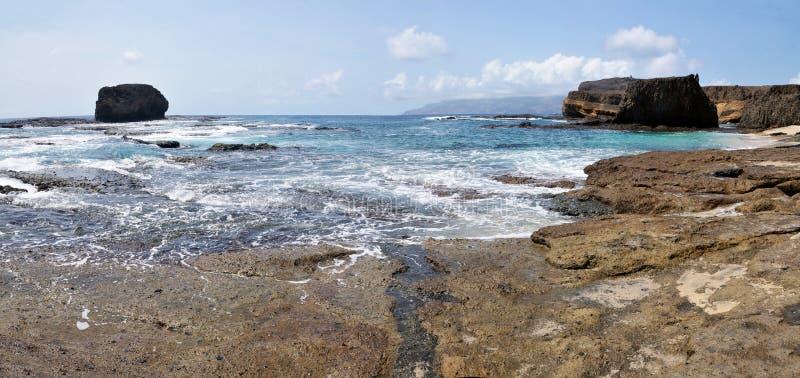 Wateringang aan het eilandje van Djeu royalty-vrije stock foto's