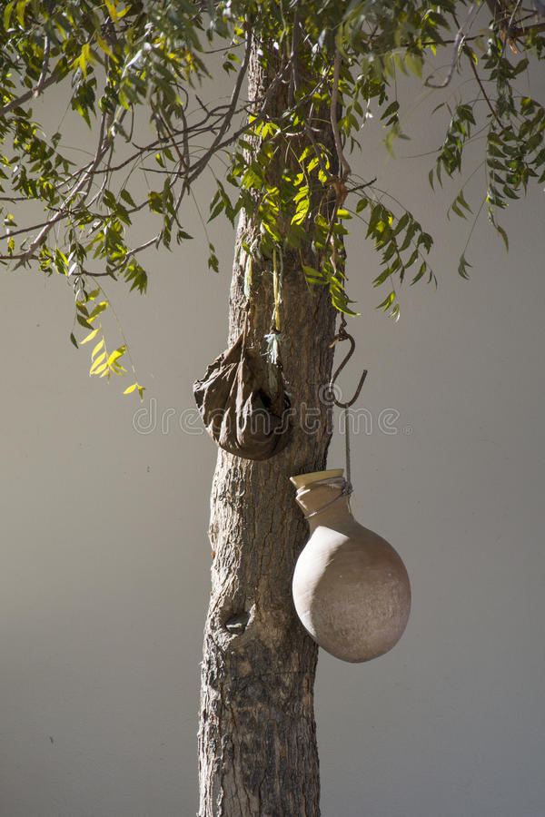 Waterjar in oase Al Hamra Oman royalty-vrije stock afbeelding