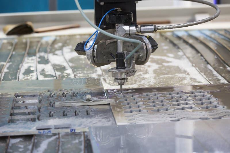 Waterjet Metal Cutting By Cnc Program Stock Photo Image