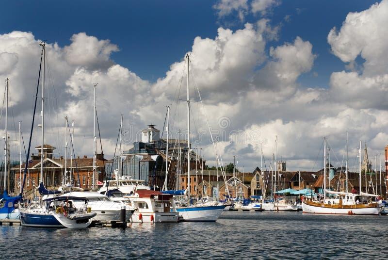 Waterkant 2 van Ipswich stock afbeelding