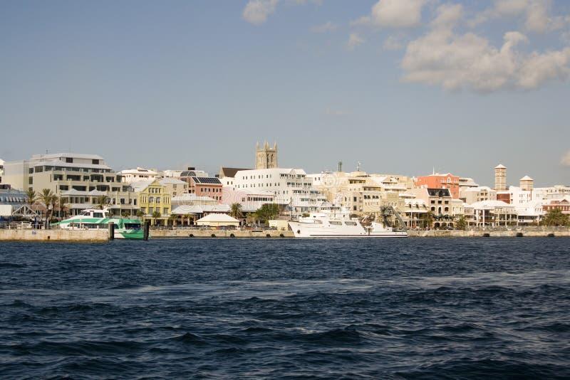 Waterkant de Bermudas royalty-vrije stock afbeelding
