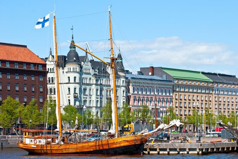 Waterkant Helsinki. stock foto