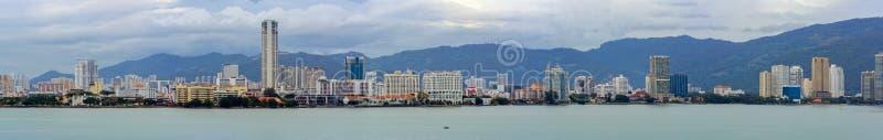 Waterkant van George Town stock foto