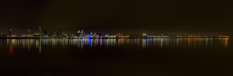 Waterkant 2 van Liverpool stock foto