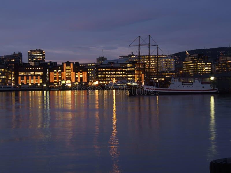 Waterkant van Oslo, Noorwegen royalty-vrije stock foto