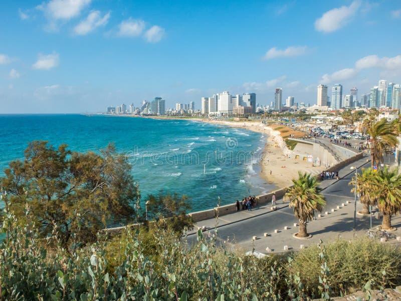 Waterkant van Tel Aviv, Israël royalty-vrije stock foto's