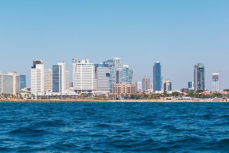 Waterkant van Tel Aviv, Isra?l stock foto's
