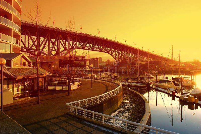 Waterkant Vancouver royalty-vrije stock foto's