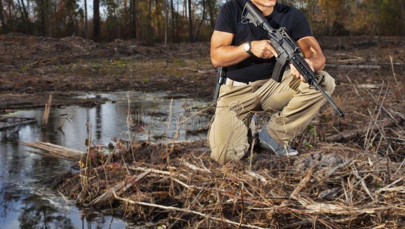 Waterkantwacht stock fotografie