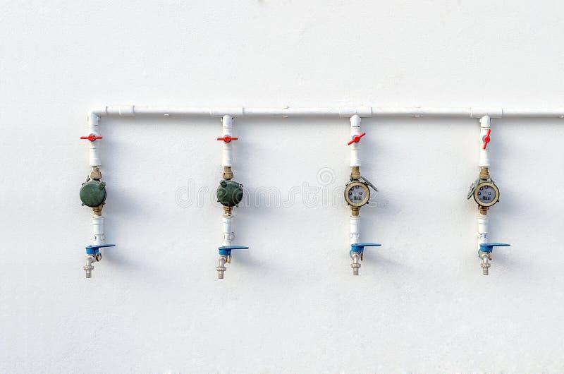 Waterkleppen en Watermeters royalty-vrije stock foto's