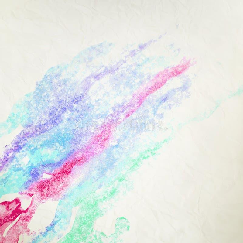 Waterkleur zoals wolk op oud document. + EPS10 royalty-vrije illustratie