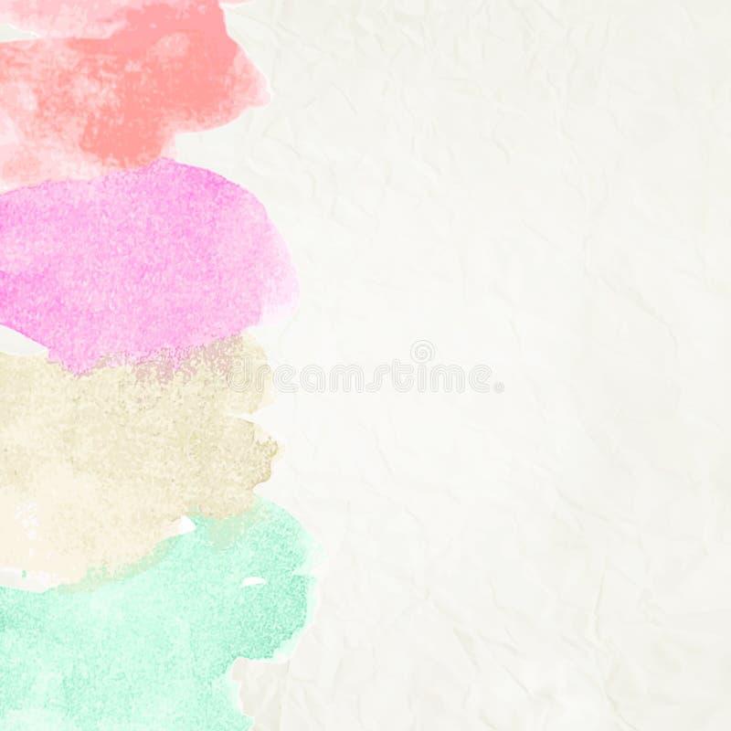 Waterkleur zoals wolk op oud document. + EPS10 vector illustratie