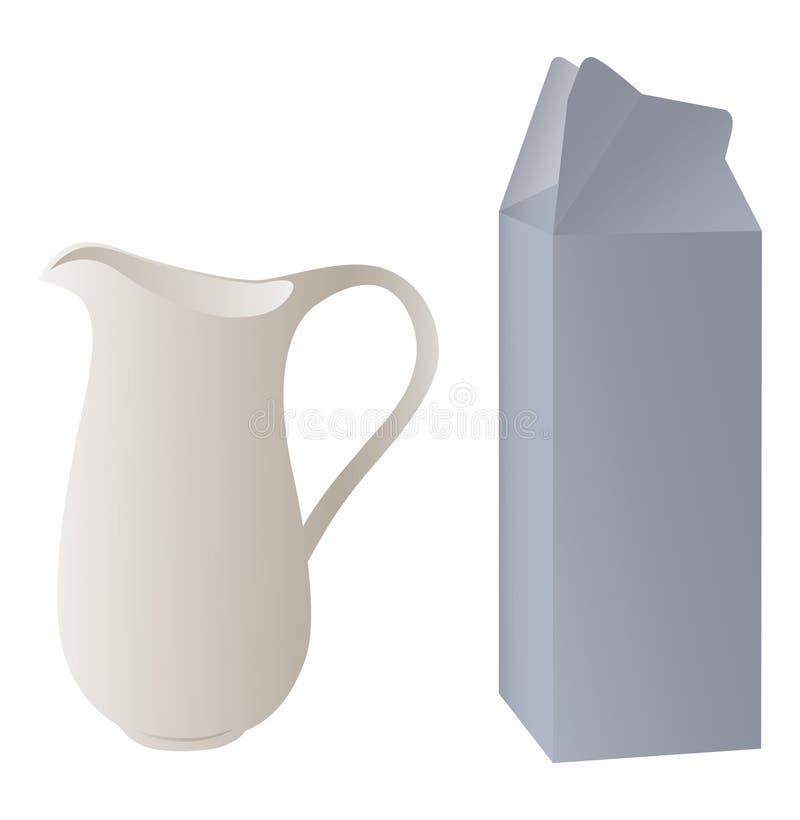 Waterkruik en verpakking royalty-vrije stock afbeelding