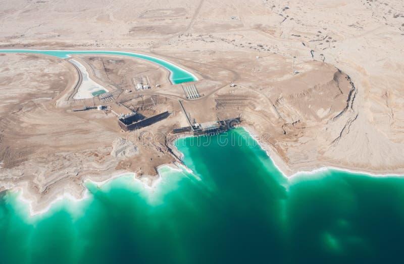 Waterleidingsbedrijven op Dode Overzees stock fotografie