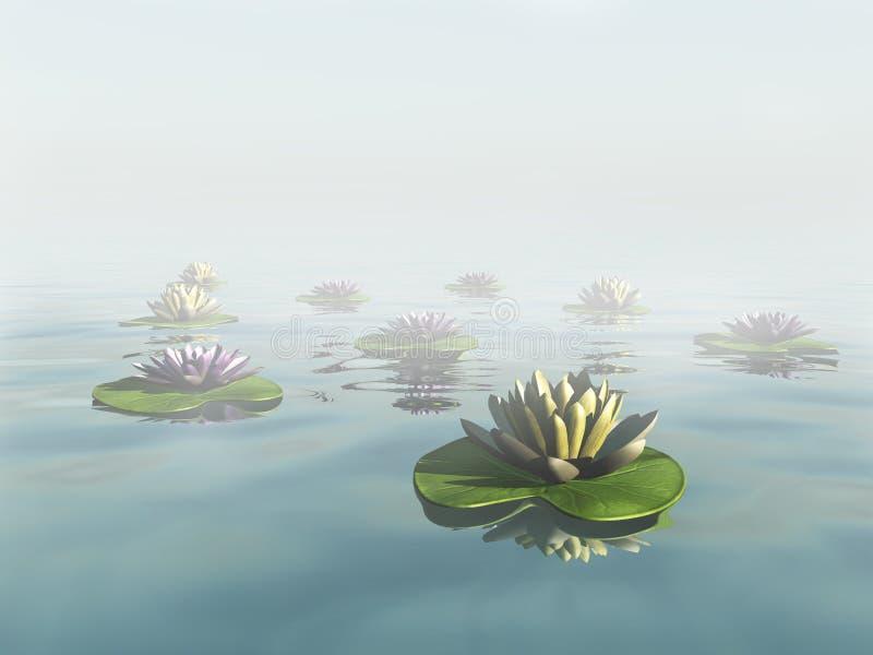 Waterlelies royalty-vrije illustratie