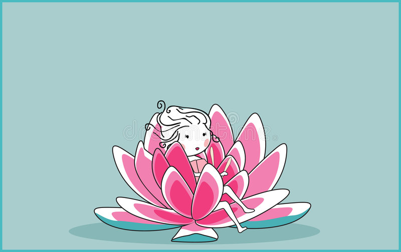 Download Waterlilly stock vector. Image of lily, blossom, girl - 8520806