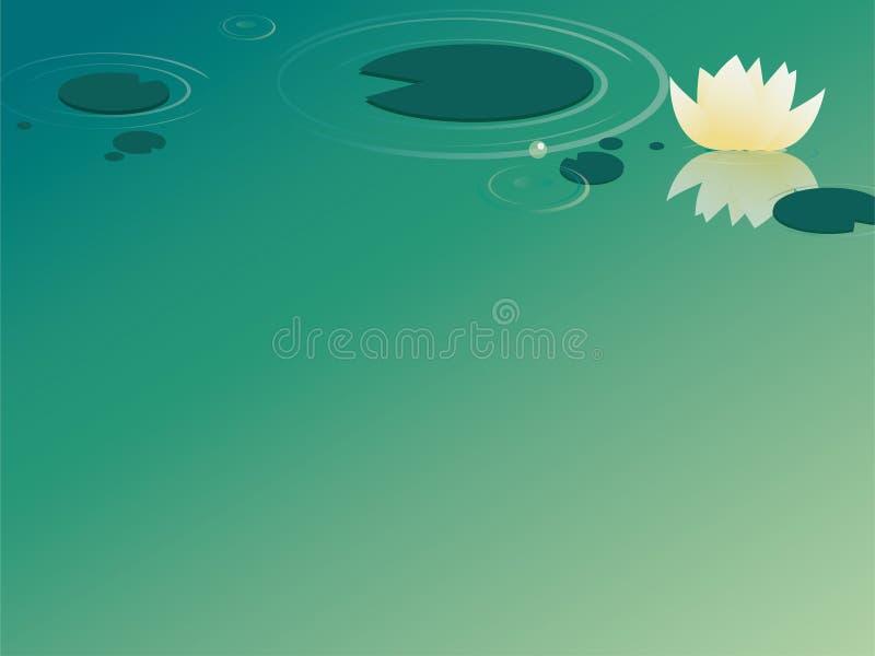 waterlily иллюстрация вектора