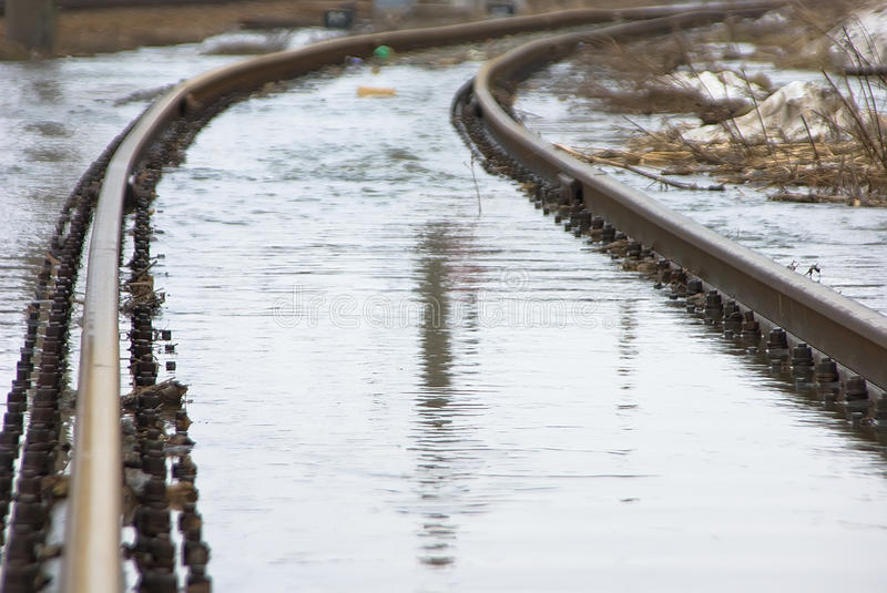 Download Waterloged Railway Royalty Free Stock Photography - Image: 13814337