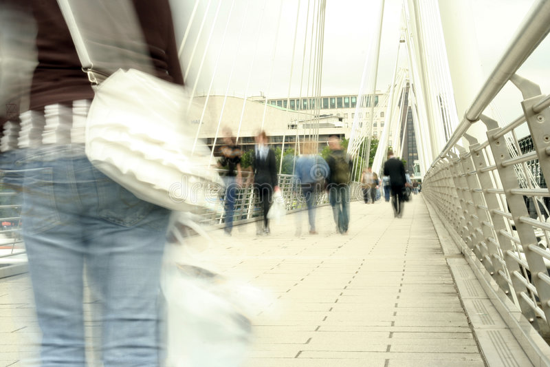 Waterloo Foot Bridge Stock Photography